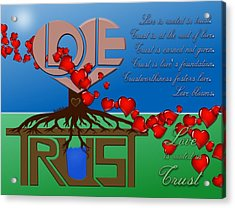 Rooted In Trust Acrylic Print