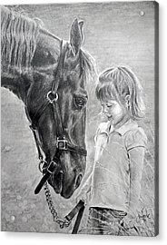 Rooty And Ella Acrylic Print by James Foster