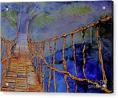 Rope Bridge Acrylic Print