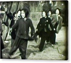Rope Dance Of Korea Acrylic Print by Dale Stillman