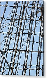 Acrylic Print featuring the photograph Rope Ladder by Dale Kincaid