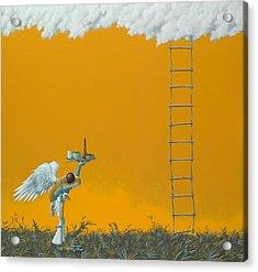 Rope Ladder Acrylic Print by Jasper Oostland
