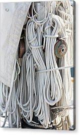 Ropes Of A Sailboat Acrylic Print