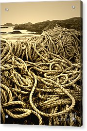 Ropes On Shore Acrylic Print