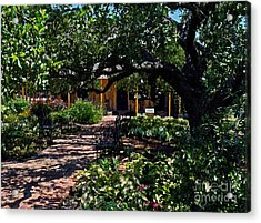 Acrylic Print featuring the photograph Roque House Gardens by Ken Frischkorn