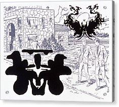 Rorschach 3 Angel Of Death Acrylic Print by Karl Frey