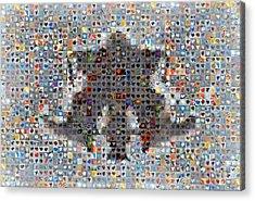 Rorschach Inkblot Card Four Acrylic Print