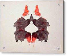 Rorschach Test Card No. 2 Acrylic Print