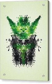 Rorschach Yoda Acrylic Print
