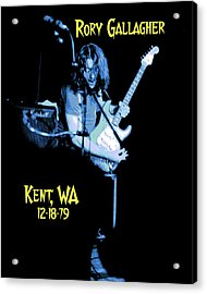 Acrylic Print featuring the photograph Rory Kent Blues by Ben Upham
