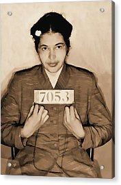 Rosa Parks Mugshot Acrylic Print by Dan Sproul