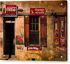 Rosas Cafe Acrylic Print by J Griff Griffin