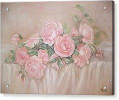 Rose Abundance Painting Acrylic Print