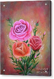 Rose Bouquet Acrylic Print by Kristi Roberts