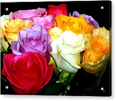 Rose Bouquet Painting Acrylic Print