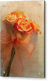 Rose Bouquet Acrylic Print by Rebecca Cozart