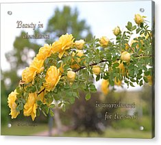Rose Bower With Message Acrylic Print by Kae Cheatham
