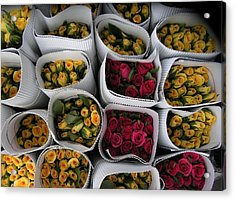 Rose Bunches Acrylic Print by Mohammed Nasir