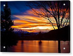 Rose Canyon Dawning Acrylic Print