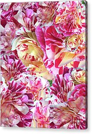 Rose Collage Acrylic Print