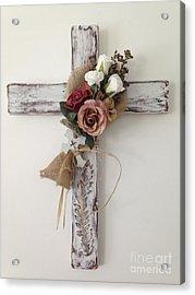 Rose Cross Acrylic Print