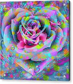 Acrylic Print featuring the digital art Rose by Eleni Mac Synodinos