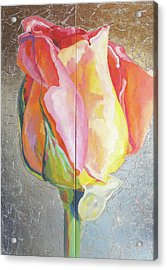 Acrylic Print featuring the painting Rose by Eva Konya