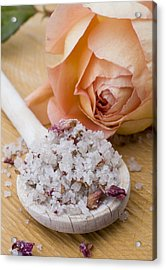 Rose-flavored Sea Salt Acrylic Print by Frank Tschakert