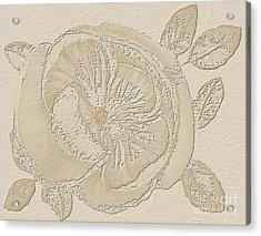 Rose Fossil Acrylic Print by Delynn Addams