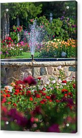 Rose Fountain Acrylic Print