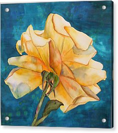 Rose From Behind Acrylic Print
