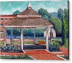 Rose Garden Gazebo Acrylic Print