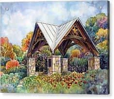 Rose Garden Acrylic Print by Hailey E Herrera