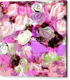 Rose Garden Promise- Art By Linda Woods Acrylic Print