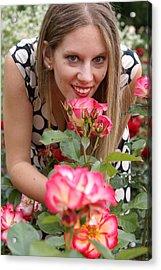 Rose Garden Acrylic Print by Sonja Anderson