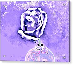 Rose In Creative Vase Acrylic Print