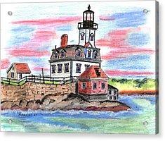 Rose Island Lighthouse Acrylic Print by Paul Meinerth