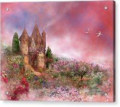 Rose Manor Acrylic Print by Carol Cavalaris