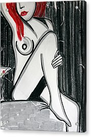 Rose Martini Acrylic Print by Cat Jackson