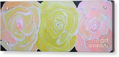 Rose Medley With Dewdrops Acrylic Print