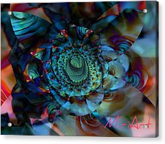 Acrylic Print featuring the photograph Rose Motif by Miriam Shaw