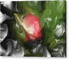 Rose On Troubled Water Acrylic Print