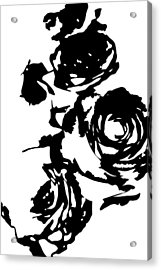 Rose Outline Acrylic Print