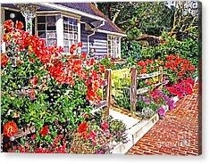 Rose Ranch House - Bel-air Acrylic Print by David Lloyd Glover
