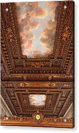 Acrylic Print featuring the photograph Rose Reading Room Ceiling by Jessica Jenney
