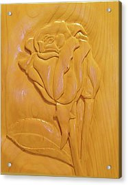 Rose Relief Acrylic Print by Russell Ellingsworth