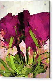 Rose Romantica Magenta Green Acrylic Print