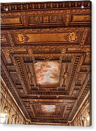Acrylic Print featuring the photograph Rose Room Ceiling by Jessica Jenney