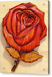 Rose Acrylic Print by Russell Ellingsworth