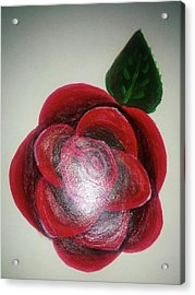 Rose Acrylic Print by Shweta Singh
